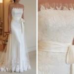 A renda branca fica perfeita em vestidos de noiva.(Foto: Divulgação)