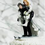 Noivinhos na neve (Foto: divulgação)