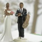 Noivo com pressa para a partida de golfe (Foto: divulgação)