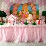 Mesa decorada com o tema Barbie (Foto: divulgação)