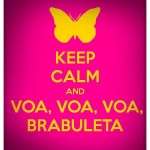 Keep calm e voa, voa, voa brabuleta.( Foto: divulgação)