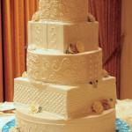Esse bolo brinca com as formas geométricas (Foto: Divulgação)