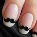 Unhas de bigodinhos são criativas e fáceis de fazer. (Foto:Divulgação)