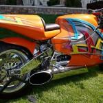 Moto tunada que ganhou um novo escapamento (Foto: Divulgação)