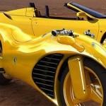Moto tunada com inspiração na Ferrari (Foto: Divulgação)