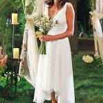 Susan Mayer usou um longuete para se casar em Desperate Housewives. (Foto: divulgação)