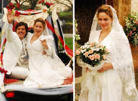 Vestido de noiva de Agustina em Passione. (Foto:Divulgação)