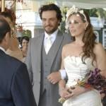Vestido de noiva de Amanda Assunção em O Astro. (Foto:Divulgação)