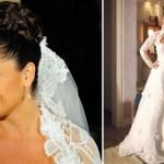 Vestido de noiva de Cláudia em Aquele Beijo. (Foto:Divulgação)