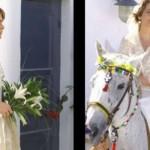 Vestido de noiva de Vitória em Belíssima. (Foto:Divulgação)
