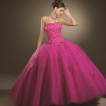 Um vestido rosa cheio de glamour. (Foto:Divulgação)