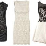 Vestidos curtos em branco e preto. (Foto: divulgação)