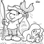 Chico Bento pescando sereia.  (Foto:Divulgação)