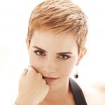 Emma Watson e seu cabelo curto ao estilo Twiggy. (Foto:Divulgação)