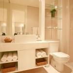 Banheiro clean com um gabinete sofisticado. (Foto:Divulgação)
