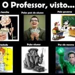 Como o professor é visto.  (Foto:Divulgação)