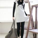 Um look casual composto por vestido e calça. (Foto:Divulgação)