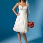 Os modelos mais curtos também caem muito bem para as noivas baixinhas (Foto: divulgação).