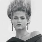 Xuxa com seus cabelos arrepiados, no início da carreira. (Foto: divulgação)