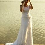 O vestido de noiva vintage é leve e inocente. (Foto:Divulgação)