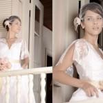Com o vestido vintage, a noiva fica mais inocente e feminina. (Foto:Divulgação)