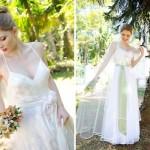 O vestido de noiva vintage combina com cerimônias ao ar livre. (Foto:Divulgação)