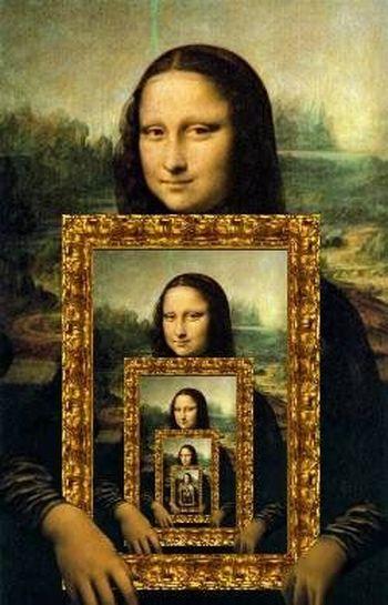 As montagens engraçadas com o quadro da Monalisa fazem um grande sucesso na internet (Foto: Divulgação)