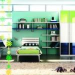 Verde e azul na decoração do quarto de rapaz. (Foto:Divulgação)