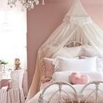 Rosa claro e branco na decoração vintage. (Foto:Divulgação)