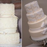 O bolo rendado é muito romântico. (Foto:Divulgação)