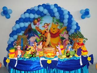 Decoração de aniversário urso Pooh Baby