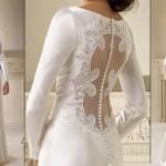 As transparências nas costas aparecem em grande estilo nos vestidos de noiva (Foto: divulgação).