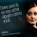 Trecho da música de Adele. (Foto:Divulgação)