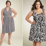 As estampas em cores neutras são excelentes para mulheres que estão acima do peso (Foto: divulgação).