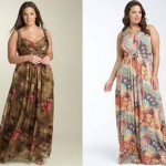 Os vestidos longos estampados são ótimas opções de escolha para gordinhas (Foto: divulgação).
