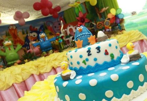 Festa decorada com o tema Galinha Pintadinha. (Foto:Divulgação)