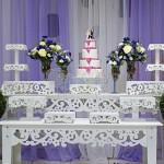 Mesa provençal de casamento. (Foto:Divulgação)