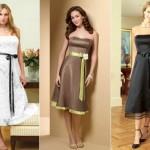 Os vestidos longuetes com fitas e laços também são indicados para festas de casamento (Foto: divulgação).