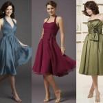 Os vestidos longuetes são ótimas opções para festas de casamento (Foto: divulgação).