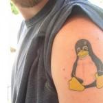 Tatuagem para os fãs do Linux. (Foto:Divulgação)