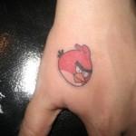 Tatuagem do Angry Birds. (Foto:Divulgação)