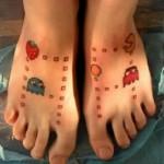 Tatuagem Pac Man nos pés. (Foto:Divulgação)
