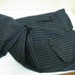 As calças risca de giz caem bem também no sexo masculino (Foto: divulgação).