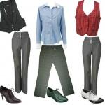 As calças risca de giz combinam com várias peças de roupa (Foto: divulgação).
