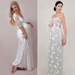 Vestidos de noiva românticos para gestantes. (Foto:Divulgação)