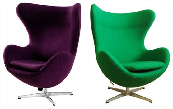 A Poltrona Egg foi criada pelo designer dinamarquês Arne Jacobsen em 1958. (Foto:Divulgação)
