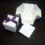Convite de casamento com formato de caixinha. (Foto:Divulgação)