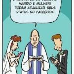 Casamento em tempos de Facebook. (Foto:Divulgação)