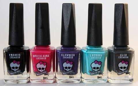 Coleção de esmaltes Monster High