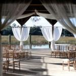 Ambiente do casamento cercado por cortinas. (Foto:Divulgação)